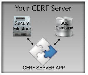 The CERF ELN system consists of the CERF server, where your data is kept.